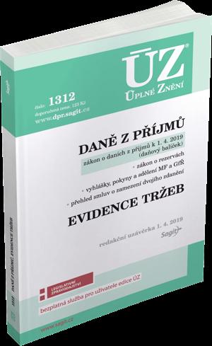 8797b57fd 1312 - Daně z příjmů, evidence tržeb - duben 2019 - Nakladatelství Sagit,  a.s.