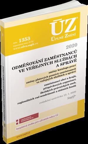 ÚZ č. 1353 - Odměňování zaměstnanců ve veřejných službách a správě 2020