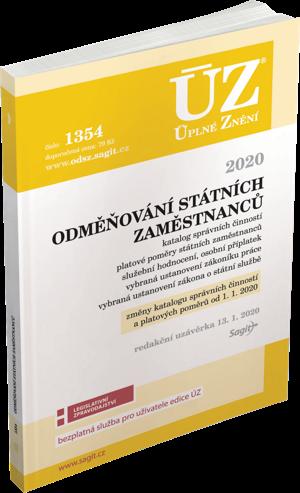 ÚZ č. 1354 - Odměňování státních zaměstnanců 2020