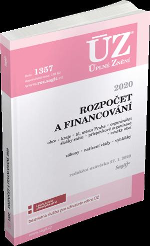 ÚZ č. 1357 - Rozpočet a financování územních samosprávných celků, organizačních složek státu, příspěvkových organizací a dalších institucí 2020