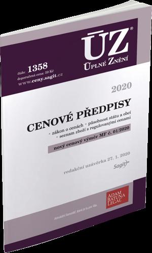 ÚZ č. 1358 - Cenové předpisy 2020
