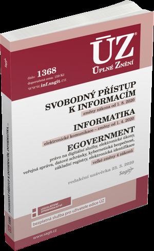 ÚZ č. 1368 - Svobodný přístup k informacím, Informatika, eGovernment