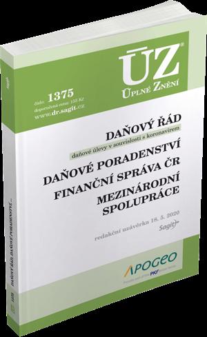 ÚZ č. 1375 - Daňový řád, Prominutí daní a dalších náležitostí, Finanční správa, Daňové poradenství, Platby v hotovosti, 2020