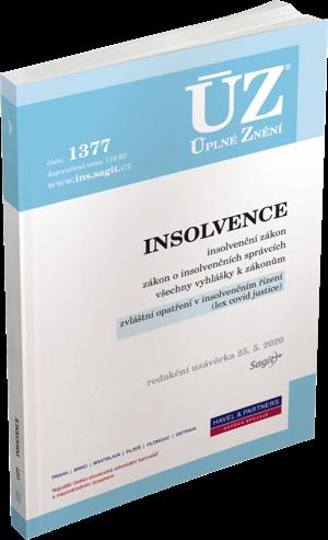 ÚZ č. 1377 - Insolvence