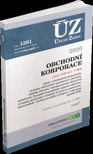 ÚZ č. 1381 - Obchodní korporace 2020