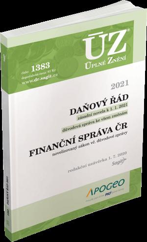 ÚZ č. 1383 - Daňový řád, Finanční správa, 2021