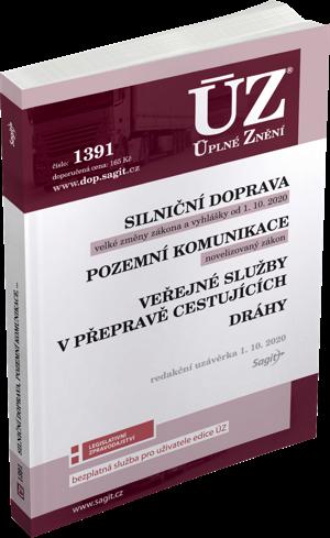 ÚZ č. 1391 - Silniční doprava, pozemní komunikace, veřejné služby v přepravě cestujících, dráhy