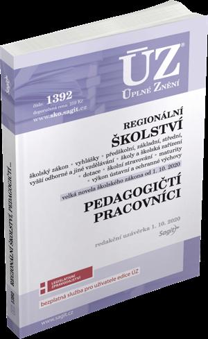 ÚZ č. 1392 - Regionální školství, pedagogičtí pracovníci