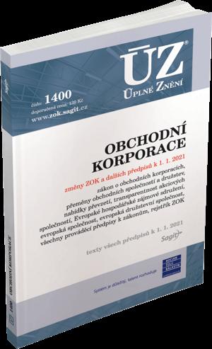 ÚZ č. 1400 - Obchodní korporace 2021
