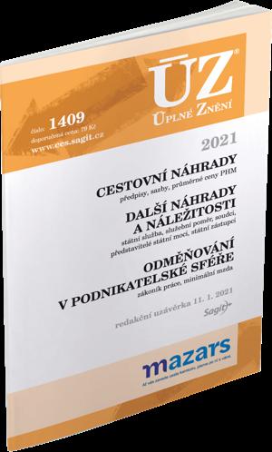 ÚZ č. 1409 - Cestovní náhrady, Odměňování v podnikatelské sféře, 2021