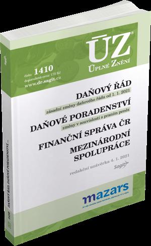 ÚZ č. 1410 - Daňový řád 2021, Finanční správa, Daňové poradenství, Platby v hotovosti