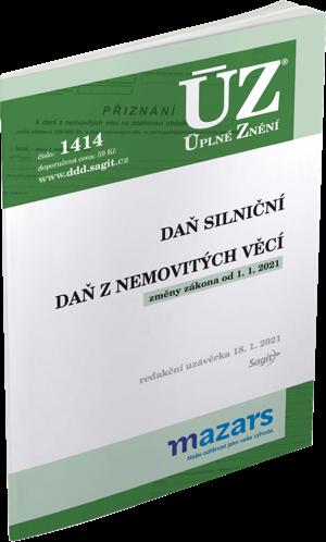ÚZ č. 1414 - Daň z nemovitých věcí, Daň silniční, 2021