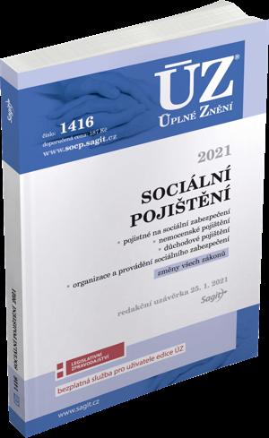 ÚZ č. 1416 - Sociální pojištění 2021