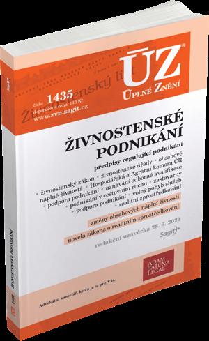 ÚZ č. 1435 - Živnostenské podnikání, volný pohyb služeb, podpora podnikání