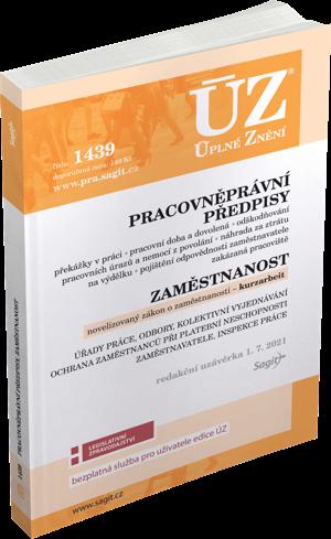 ÚZ č. 1439 - Pracovněprávní předpisy, Zaměstnanost, Kurzarbeit, Odškodňování, Odbory, Inspekce práce